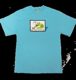 Frog Skateboards Classic Frog Logo Tee Aqua