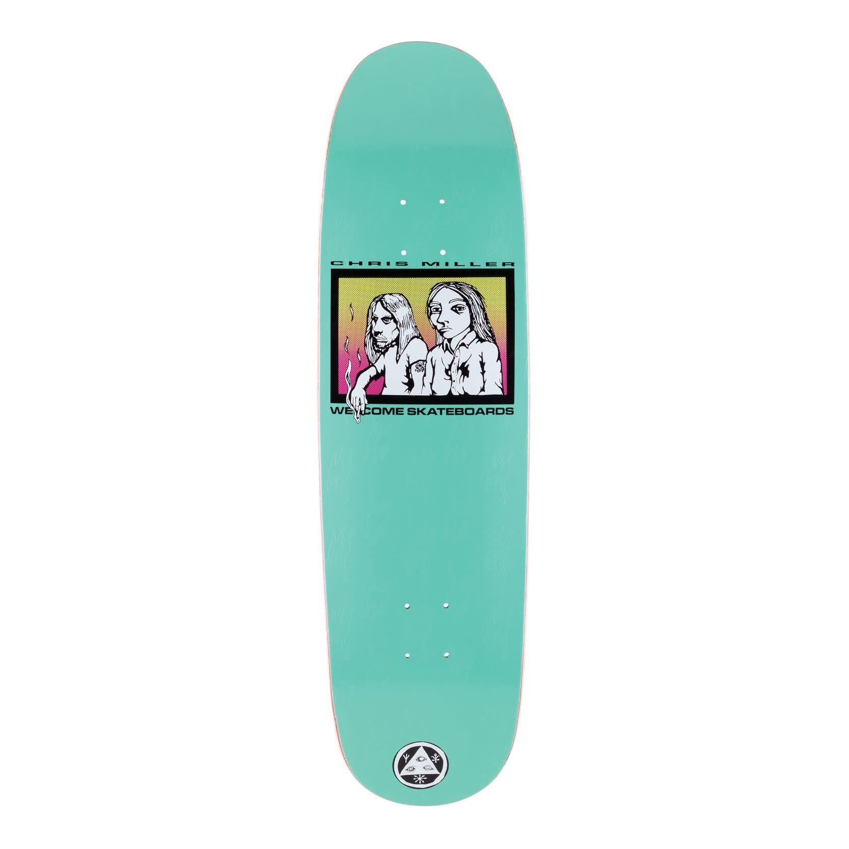 "Welcome Skateboards The Couple on Catblood 2.0 8.75"" Teal"