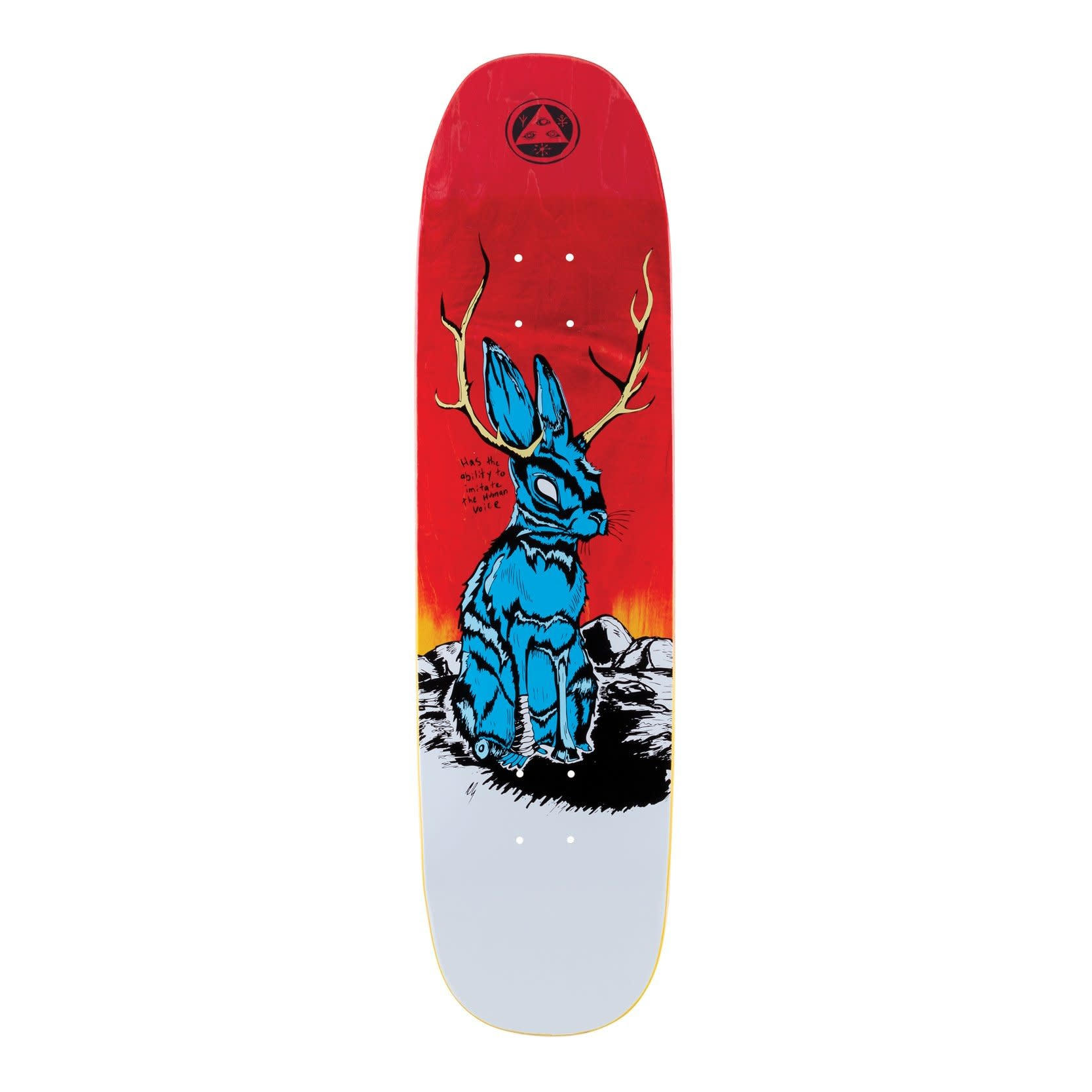 """Welcome Skateboards Jackalope on Son of Moontrimmer 8.25"""" Fire Stain"""