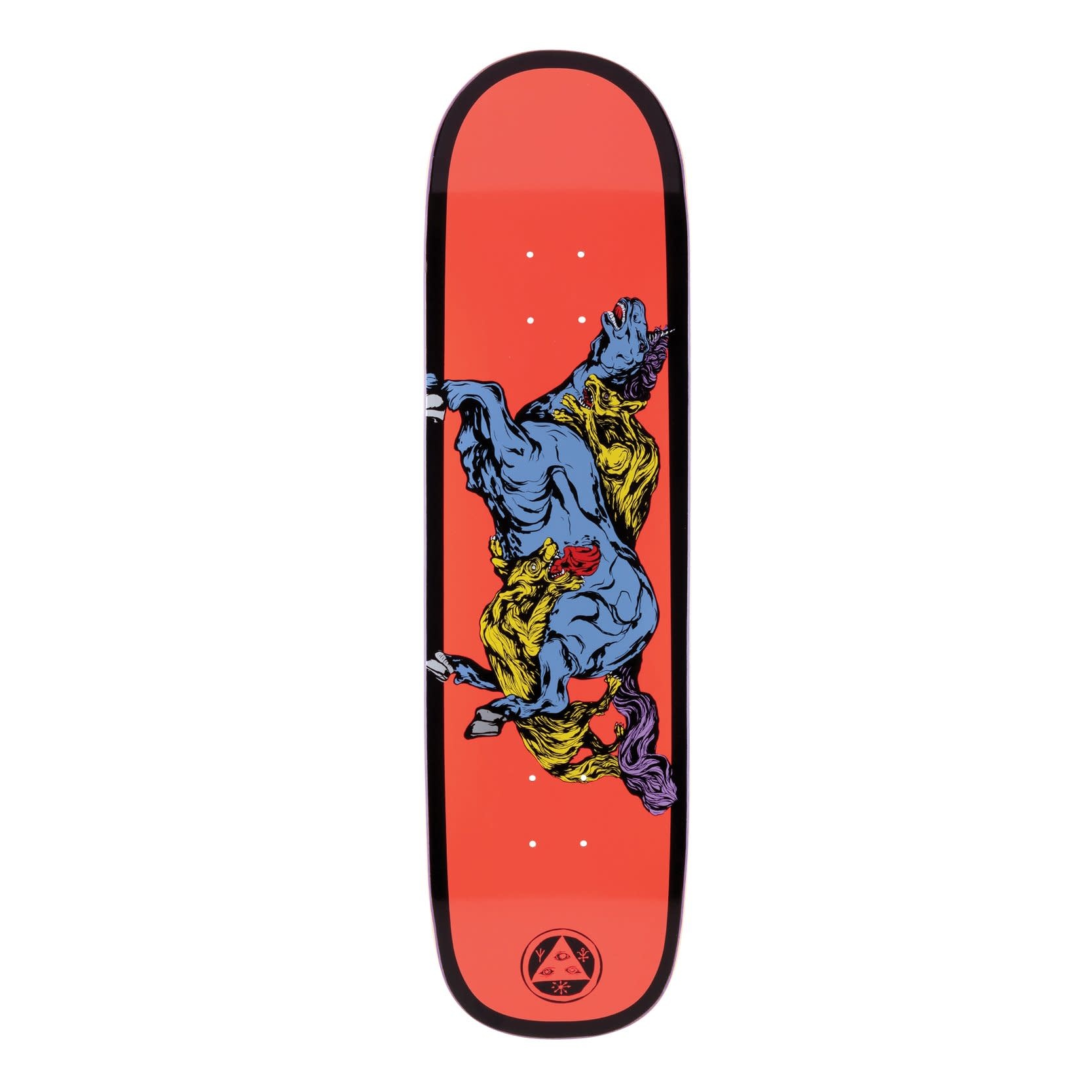 "Welcome Skateboards Goodbye Horses on Big Bunyip 8.5"" Coral/Black"