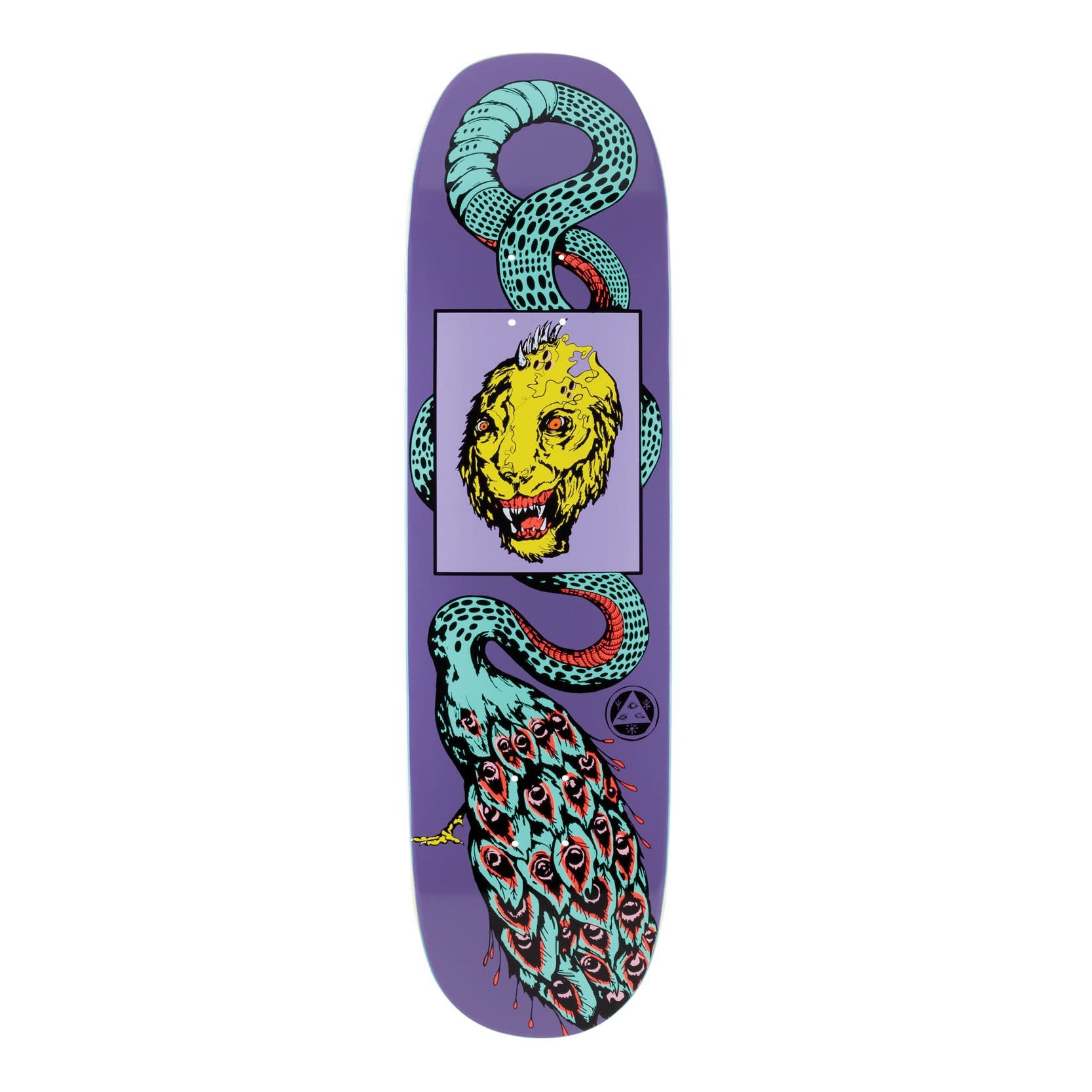 "Welcome Skateboards Glam Dragon on Moontrimmer 2.0 8.5"" Purple"