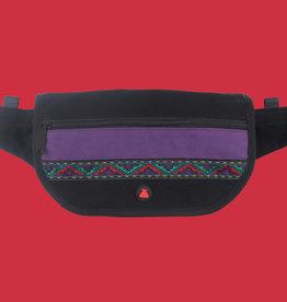 Bum Bag Java Folder Hip Pack Black w/ Ribbon