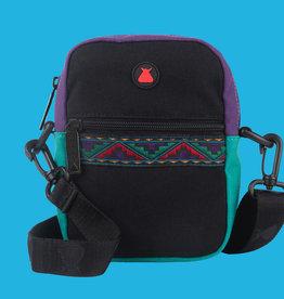 Bum Bag Java Compact Shoulder Bag Black w/ Ribbon