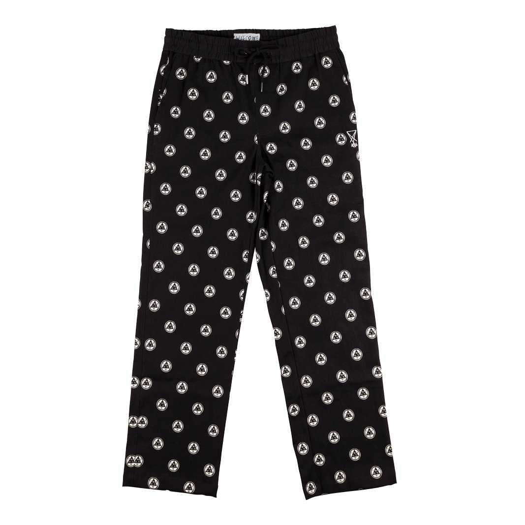 Welcome Skateboards Tali-Dot All-Over Print Pant Black/White