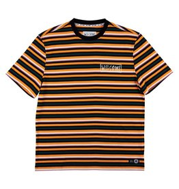 Welcome Skateboards Surf Stripe Short Sleeve Knit Cheddar/Black