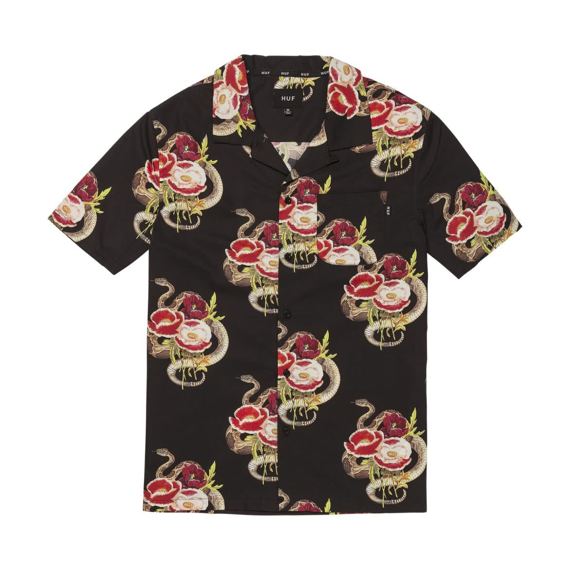 HUF Camden Woven Shirt Black