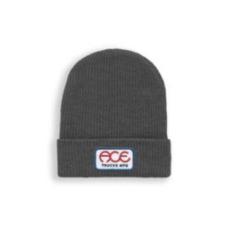 Ace Skateboard Truck Manufacturing Rings Logo Beanie Charcoal