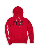 Ace Skateboard Truck Manufacturing Racer Zip Hoodie Red