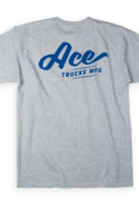 Ace Skateboard Truck Manufacturing Script Tee Heather