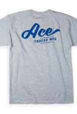 Ace Skateboard Truck Manufacturing Script Tee Heather
