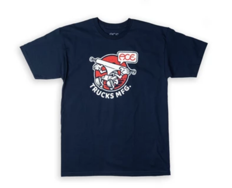 Ace Skateboard Truck Manufacturing Howdy Tee Navy