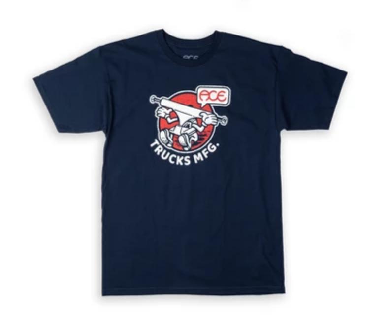 Ace Skateboard Truck MFG. Howdy Tee Navy