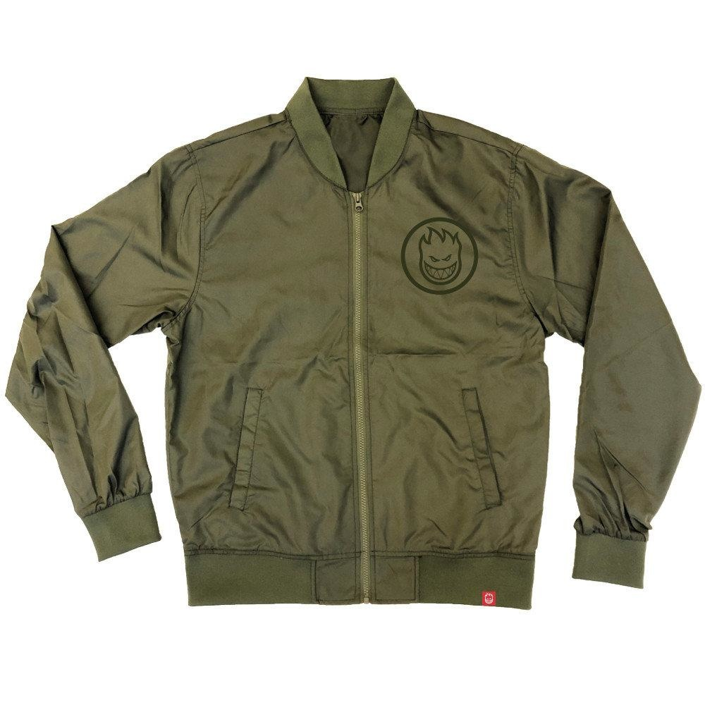 Spitfire Wheels Classic Swirl Bomber Jacket Army