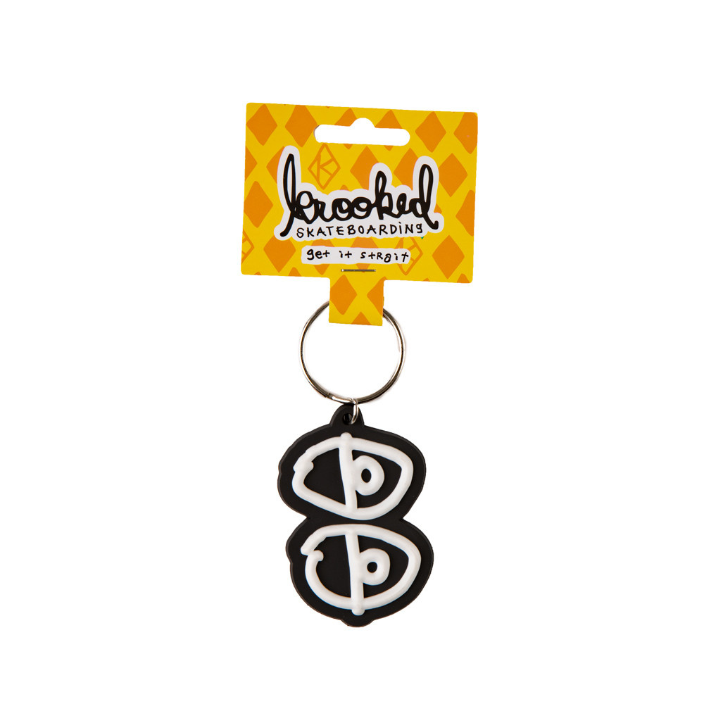 Krooked Krooked Eyes Keychain Black