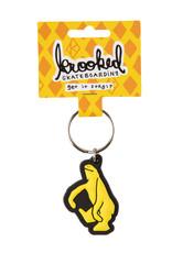 Krooked Shmoo Keychain Black/Yellow