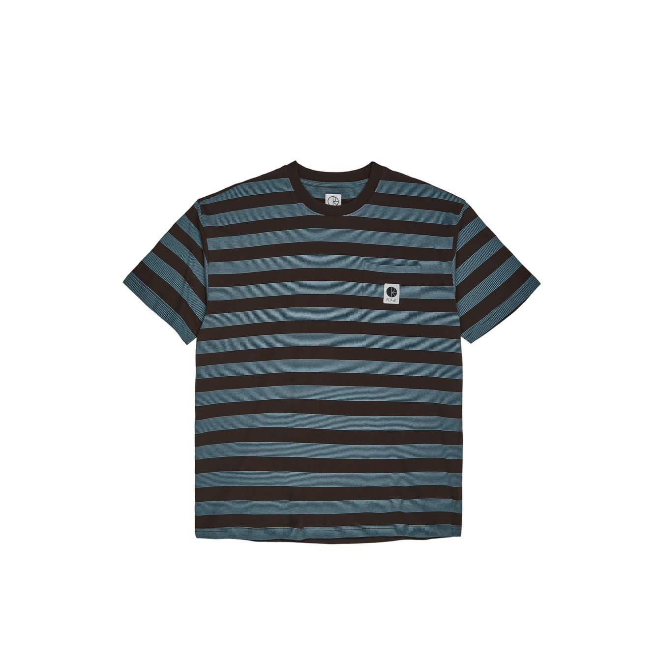 Polar Skate Co. Striped Pocket Tee Brown/Blue