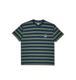 Polar Skate Co. Striped Pocket Tee Blue/Lime