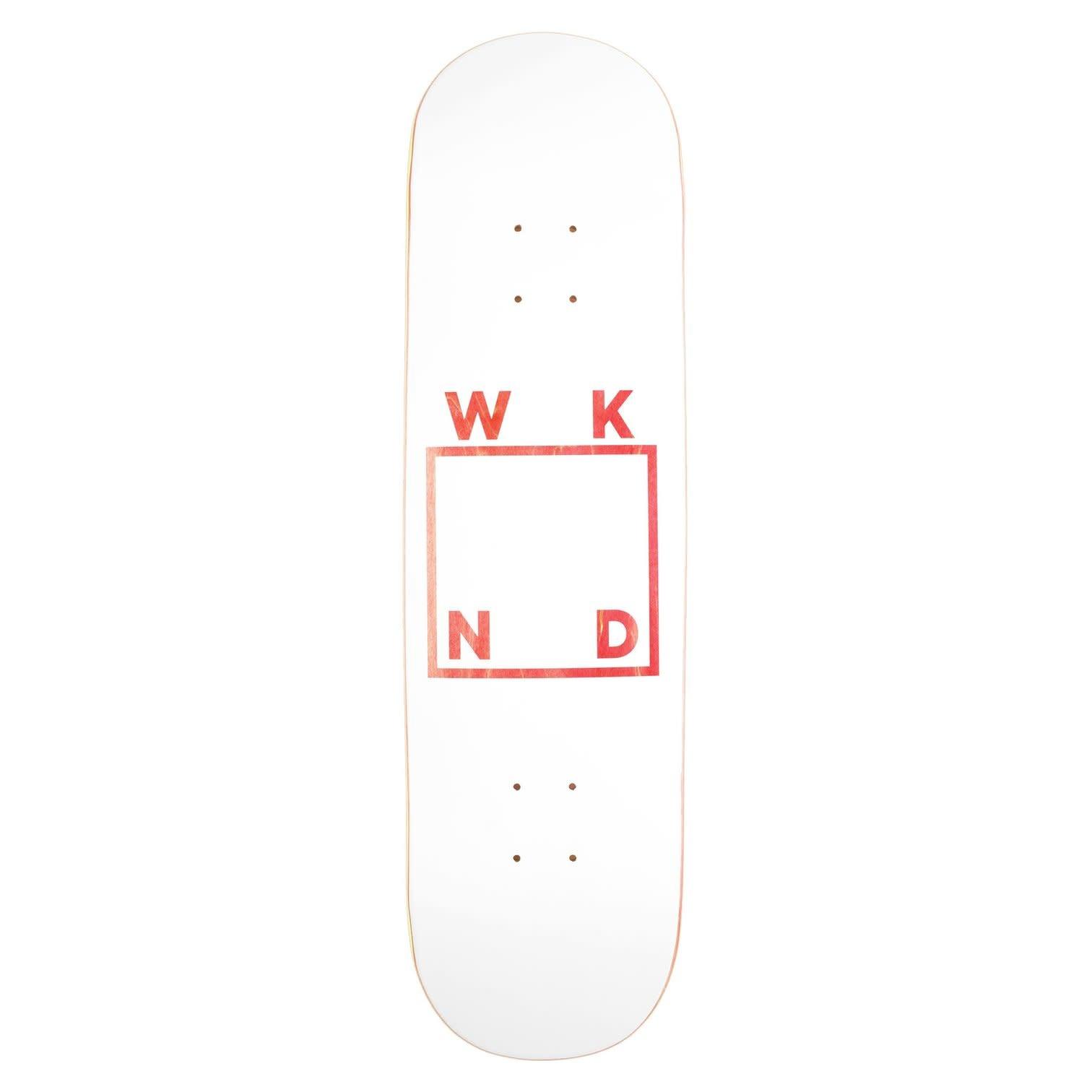 """WKND White Logo Assorted Veneer 8.25"""""""
