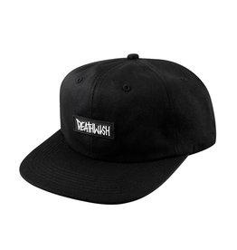 Deathwish Skateboards Deathspray Rubber Black Snapback