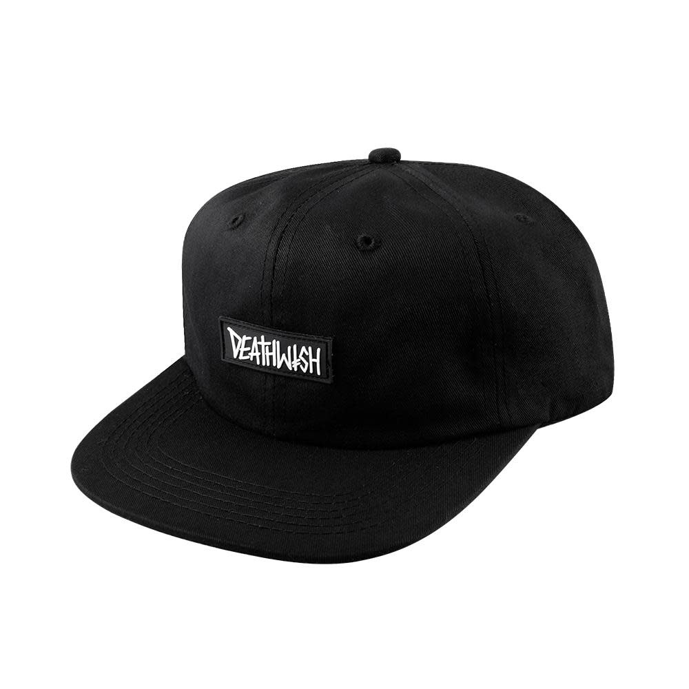 Deathwish Skateboards Deathspray Rubber Black Snapback