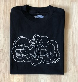 Lucky We Live High LWL Hartsel Black Tee