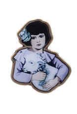 Hockey Lamb Girl Pin