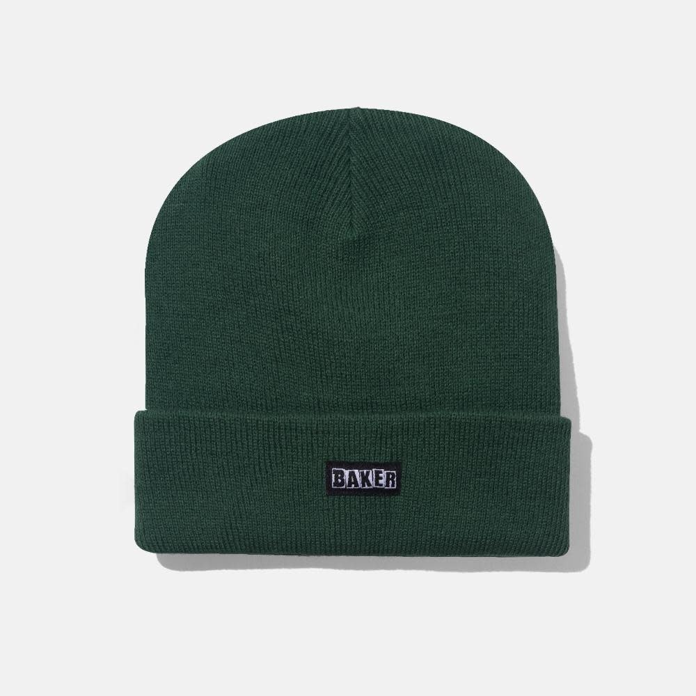 Baker Skateboards Brand Logo Hunter Green Beanie