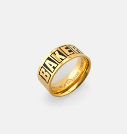 Baker Skateboards Brand Logo Gold Ring