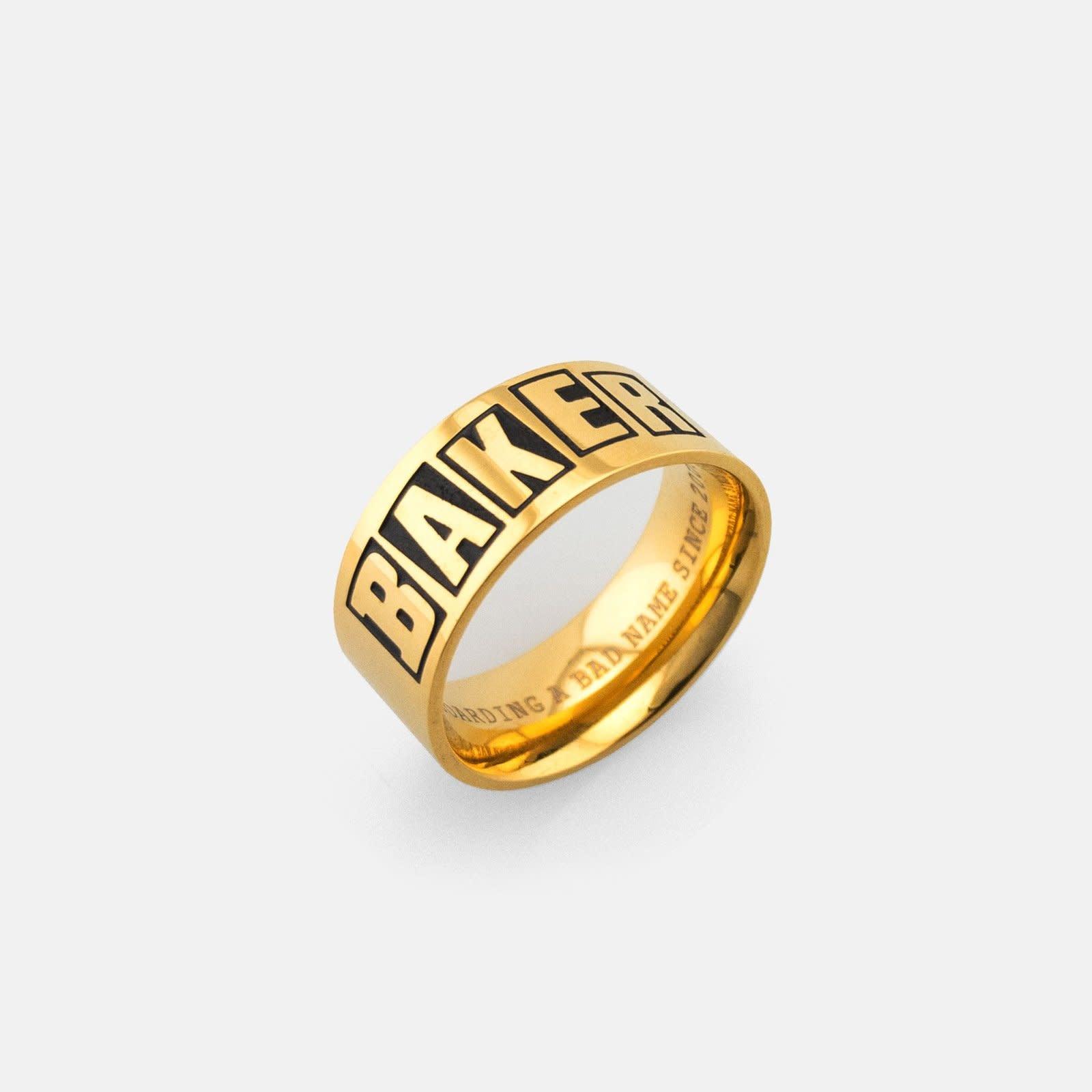 Baker Skateboards Brand Logo Gold Ring