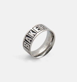 Baker Skateboards Brand Logo Silver Ring