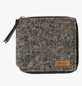 RVCA Zip Around Wallet Black/Grey