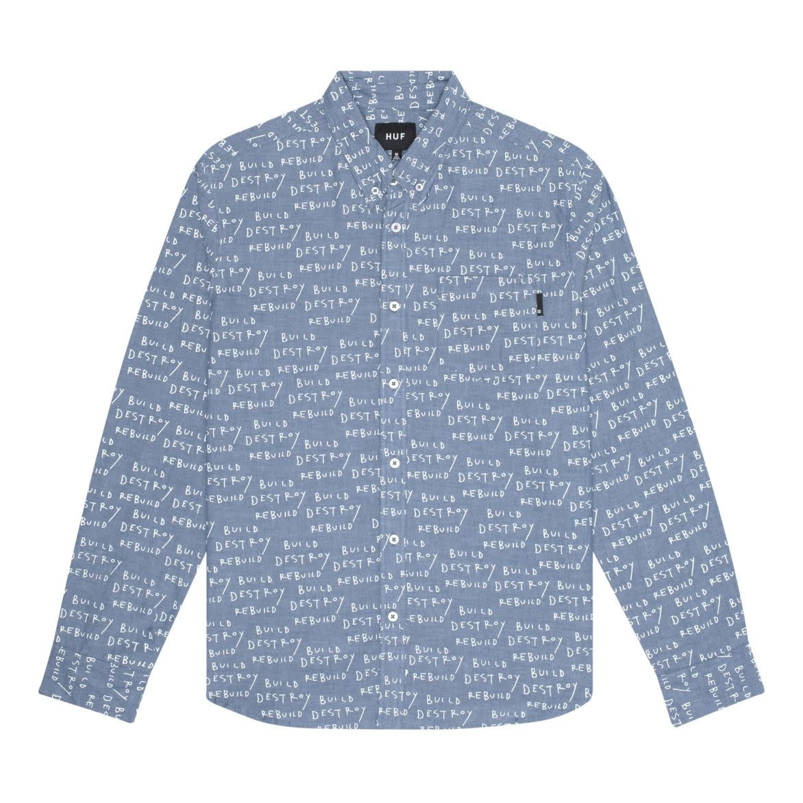 HUF BDR L/S Chambray Shirt