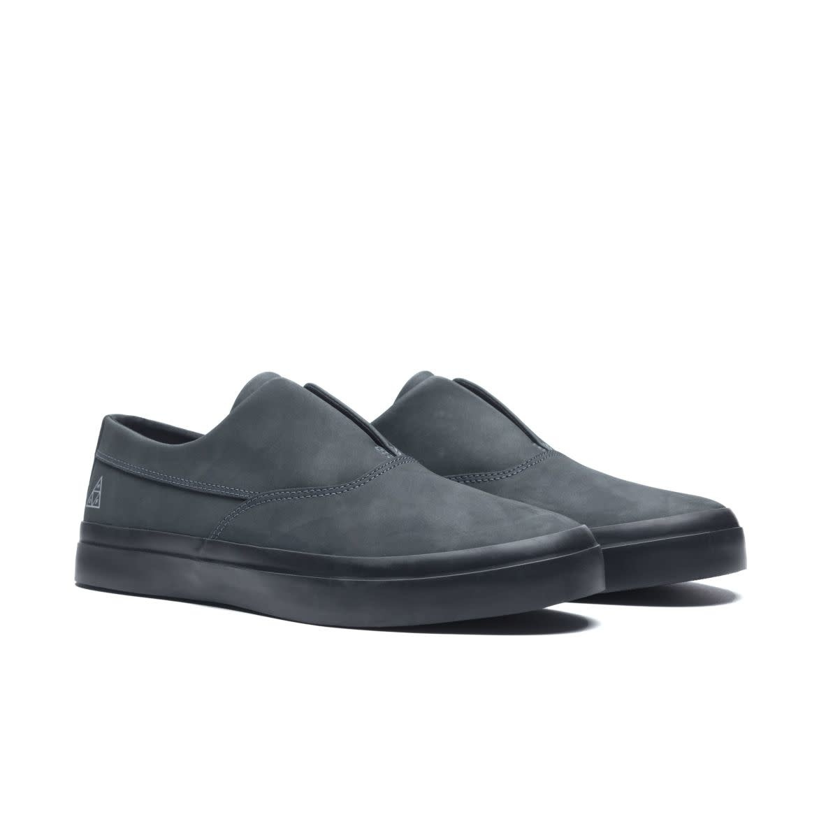 HUF Dylan Slip On Black Leather/Black