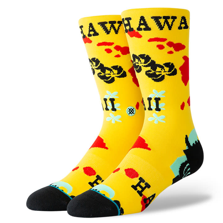 Stance Socks Hawaii Chain Oblow Yellow Large