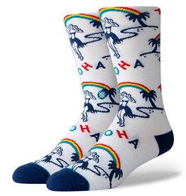 Stance Socks Hey Girl White Large