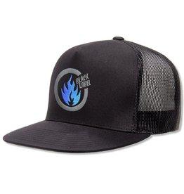 Black Label Thrash Flame Trucker Hat Black