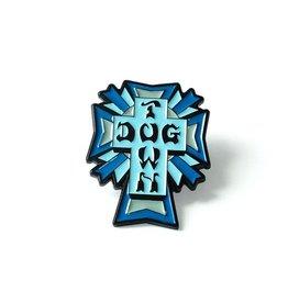Dogtown Cross Logo Blue Enamel Pin