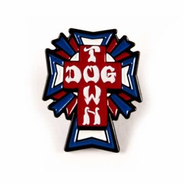 Dogtown Cross Logo Red/White/Blue Enamel Pin