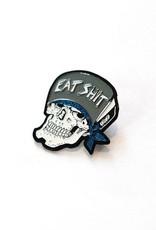 Eat Shit Skull Enamel Pin