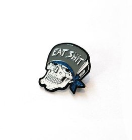 Eat Shit Skull Enamel Pin