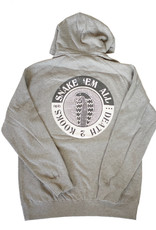 APB Skateshop Snake Em All Grey Hoodie