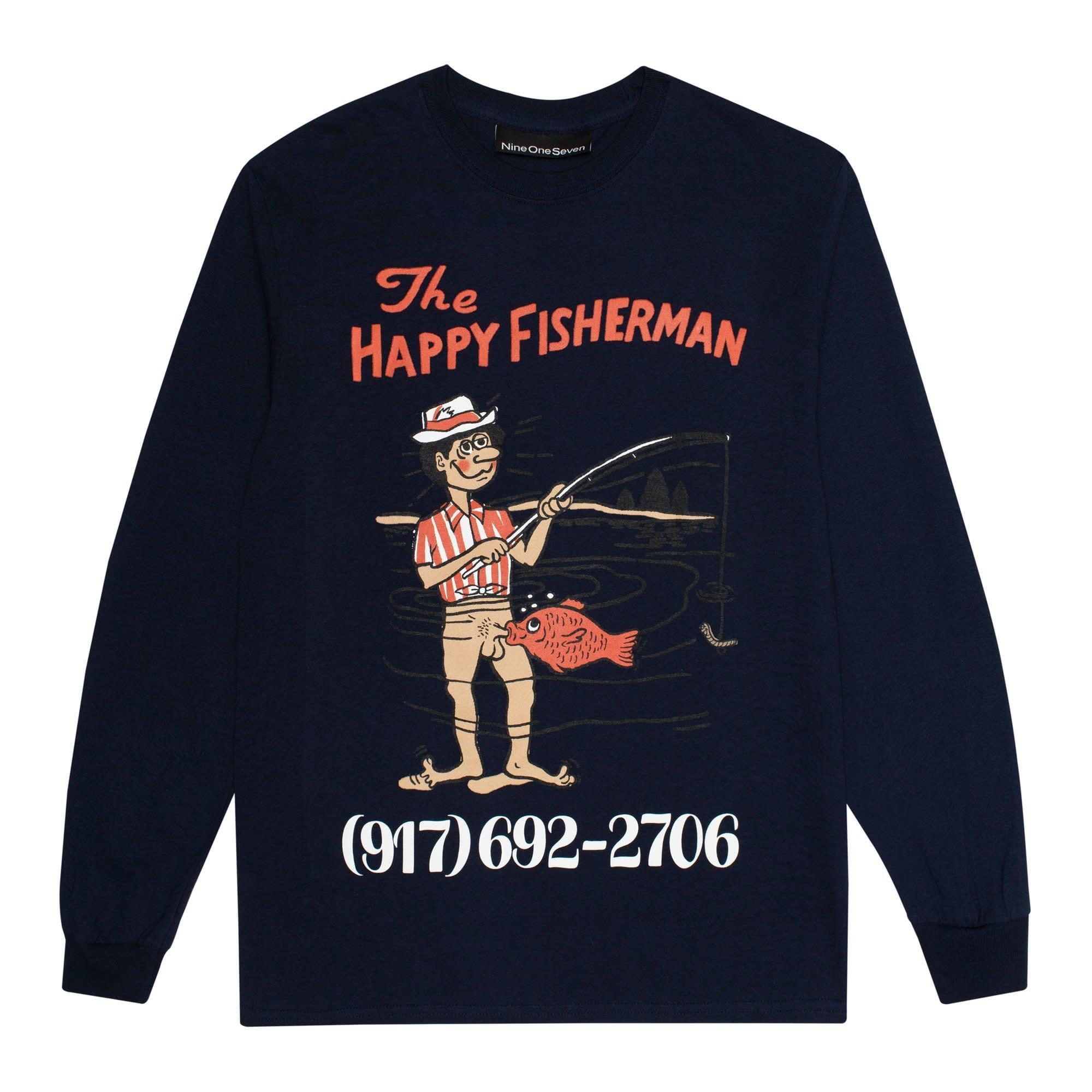 CallMe917 Happy Fisherman L/S Navy