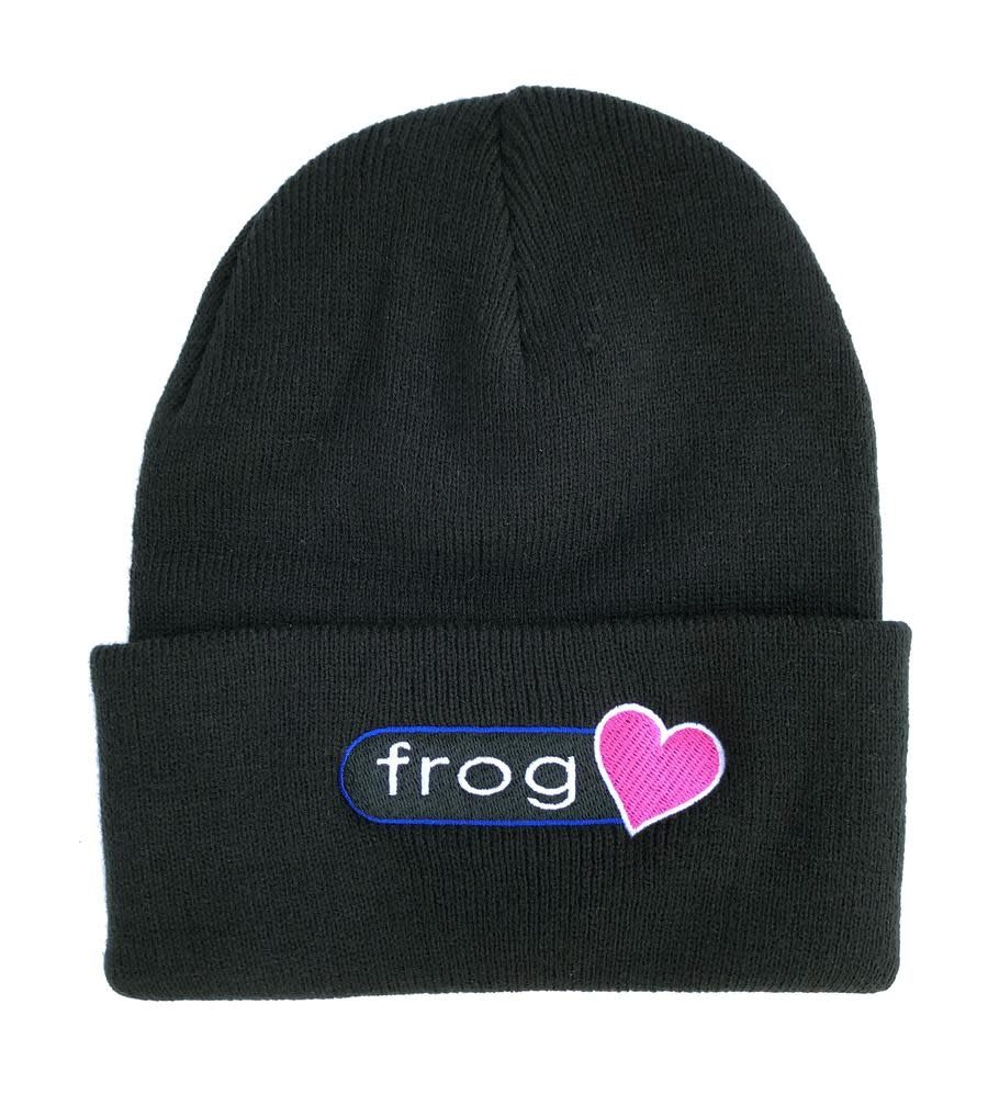 Frog Skateboards Perfect Heart Beanie Black