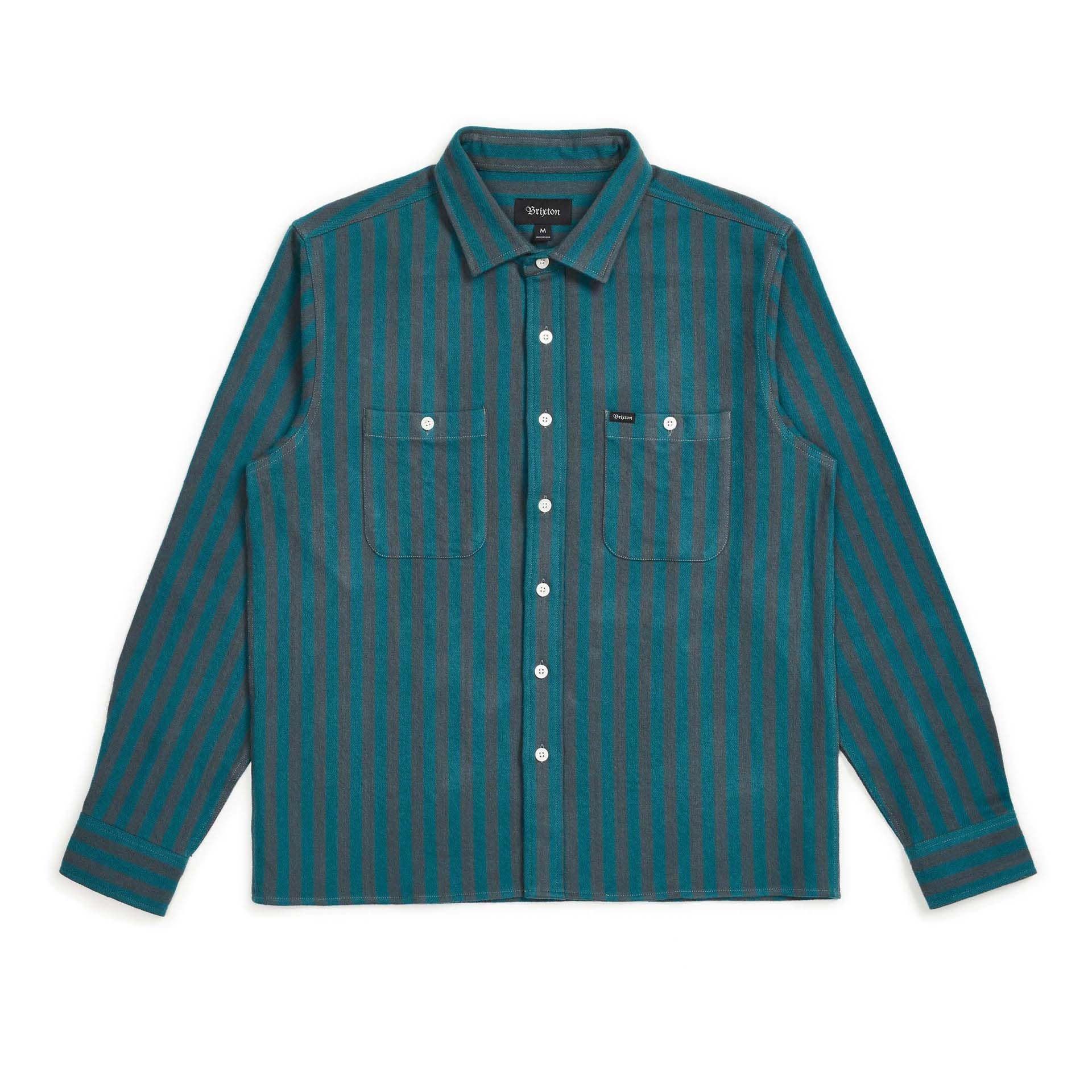 Brixton Reynold L/S Flannel Atlantic Blue