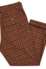 Brixton Regent Trouser Pant Brown Plaid