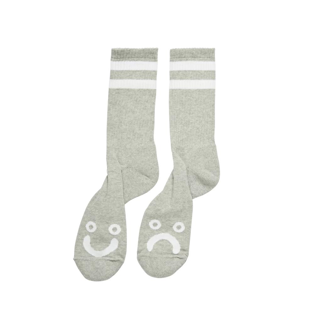 Polar Skate Co. Happy Sad Socks Heather Grey 39/42