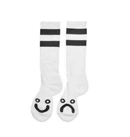 Polar Skate Co. Happy Sad Socks Long White 39/42