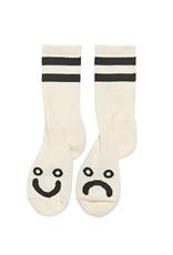 Polar Skate Co. Happy Sad Socks Ivory 39/42