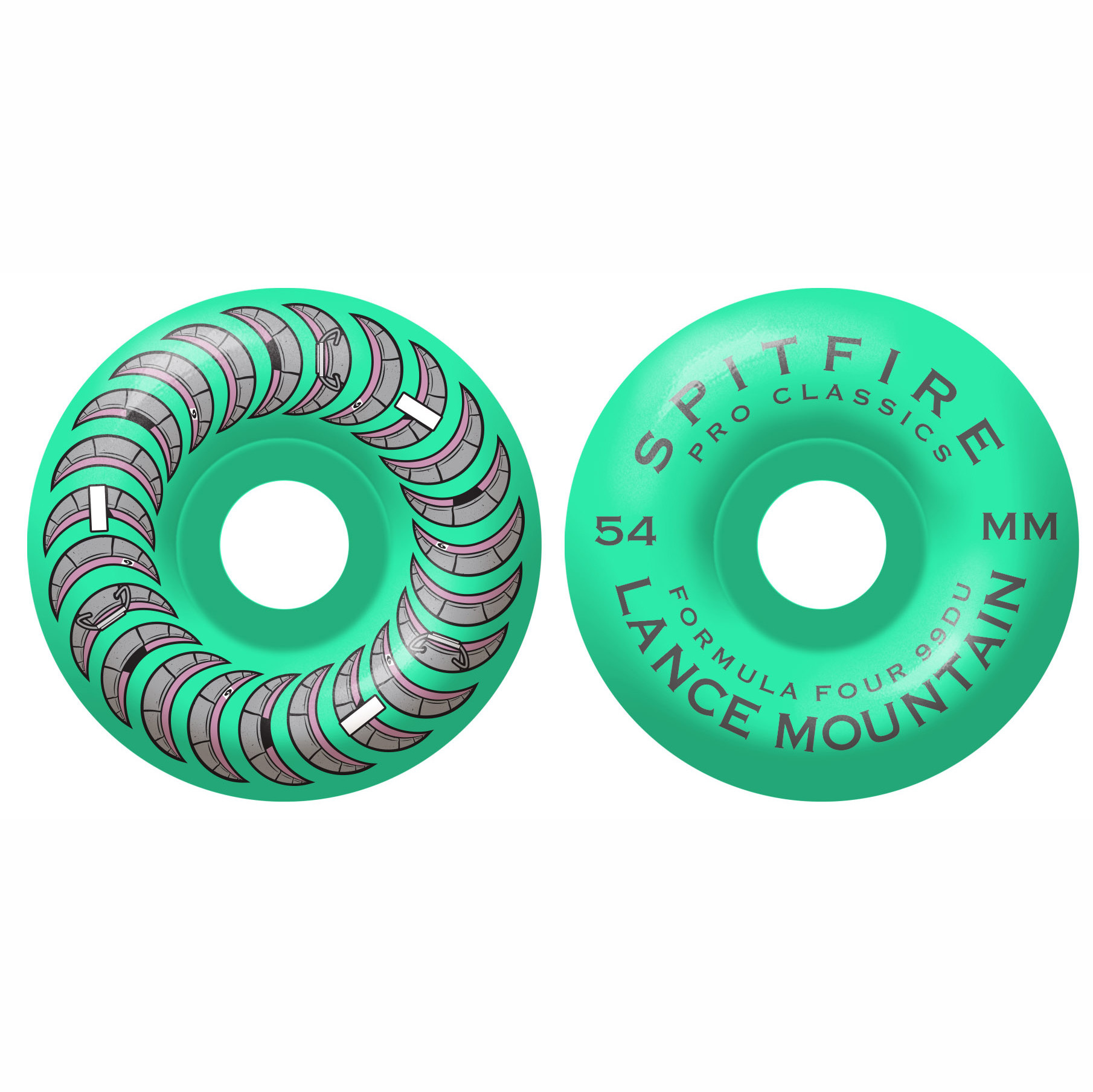 Spitfire Wheels Spitfire F4 99d Lance Turquoise Classic 54mm