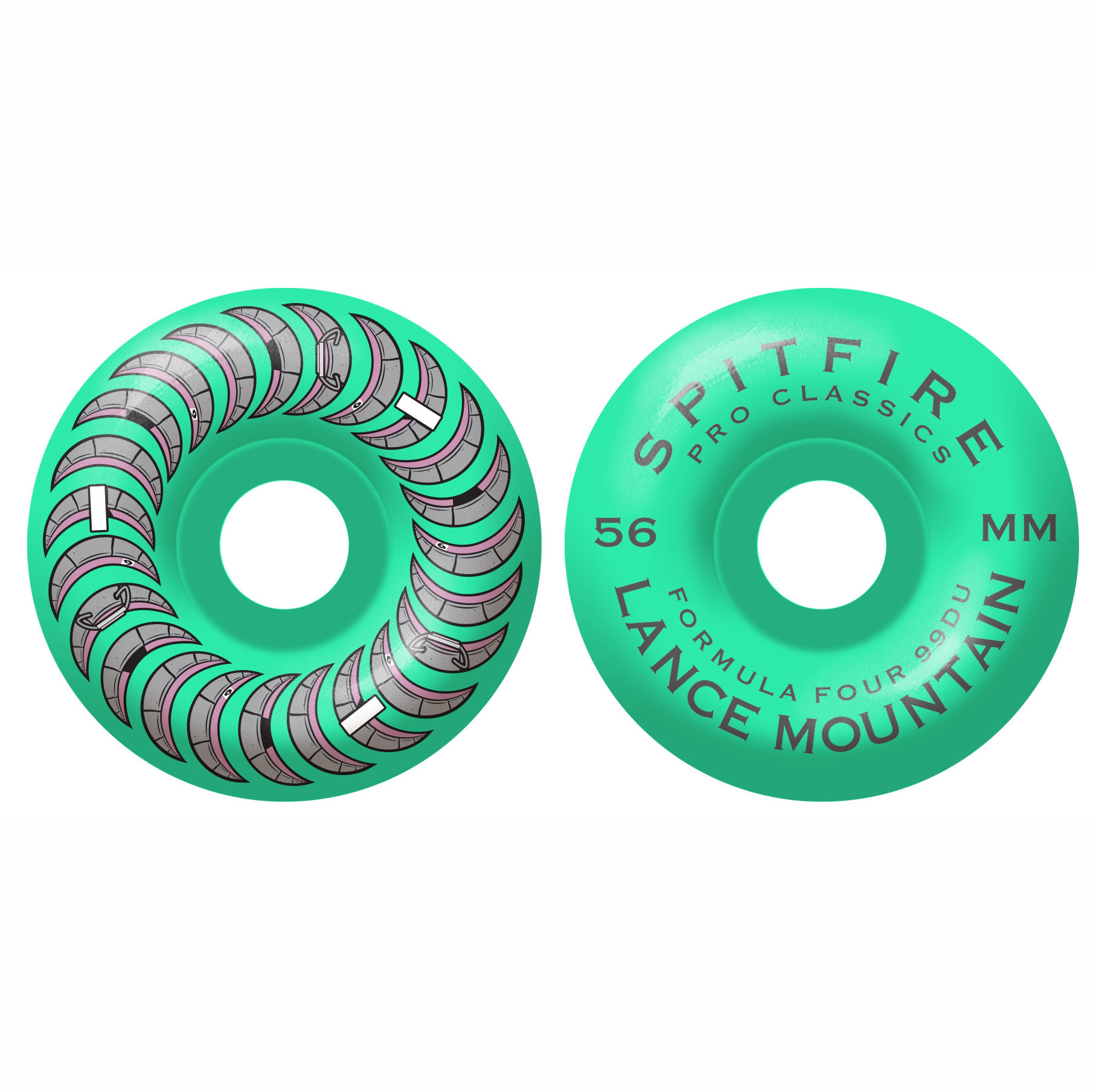 Spitfire Wheels Spitfire F4 99d Lance Turquoise Classic 56mm